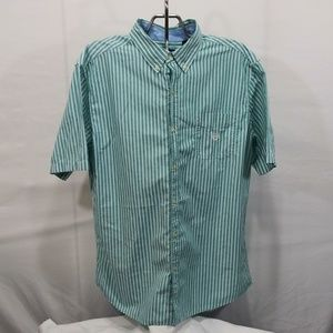 Chaps Easy Care Button Down Up Size XL Striped